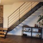 Escalier mixte quart tournant