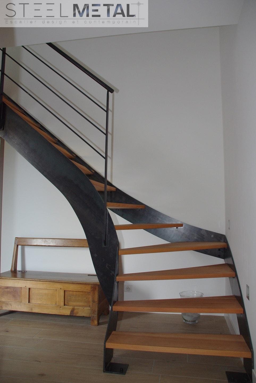 Escalier Mixte Un Quart Tournant