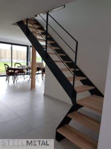 Ferro - escalier - quart tournant palier