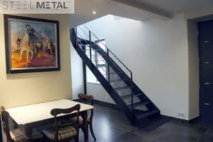 Escalier quart tournant en acier