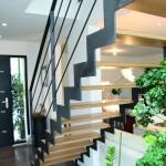 Escalier en kit réalisé en métal et bois