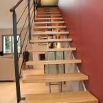 Escalier droit metal et bois - Stahl