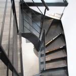 Escalier métal 2 quart tournant