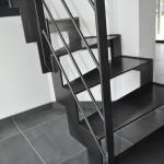 Escalier métal 2 quarts tournant