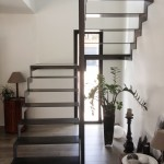 Escalier en fer double cremaillere