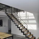 Escalier métal et bois