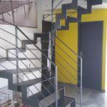 Escalier metal 24 tournant