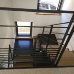 Escalier metal bois et garde garde-corps