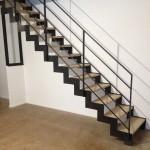 Escalier metal bois droit