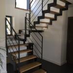 Escalier metal palier
