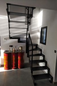 Thep - Escalier deux quart tournant tout acier