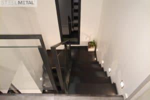 Thep - escalier deux quarts acier avec palier