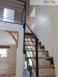 Thep - escalier quart tournant avec marches bois