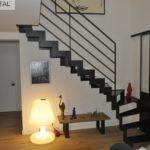 escalier metal quart tournant
