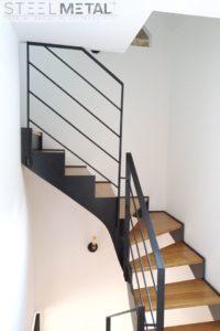 Acel - escalier deux quart tournant - marches bois