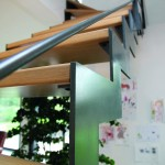 Escalier bois inox Thep