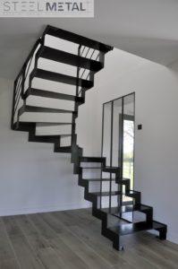 escalier deux quart thep acier