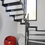 escalier deux quart tournant inox