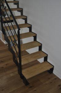 escalier bois métal droit cremaillere Thep