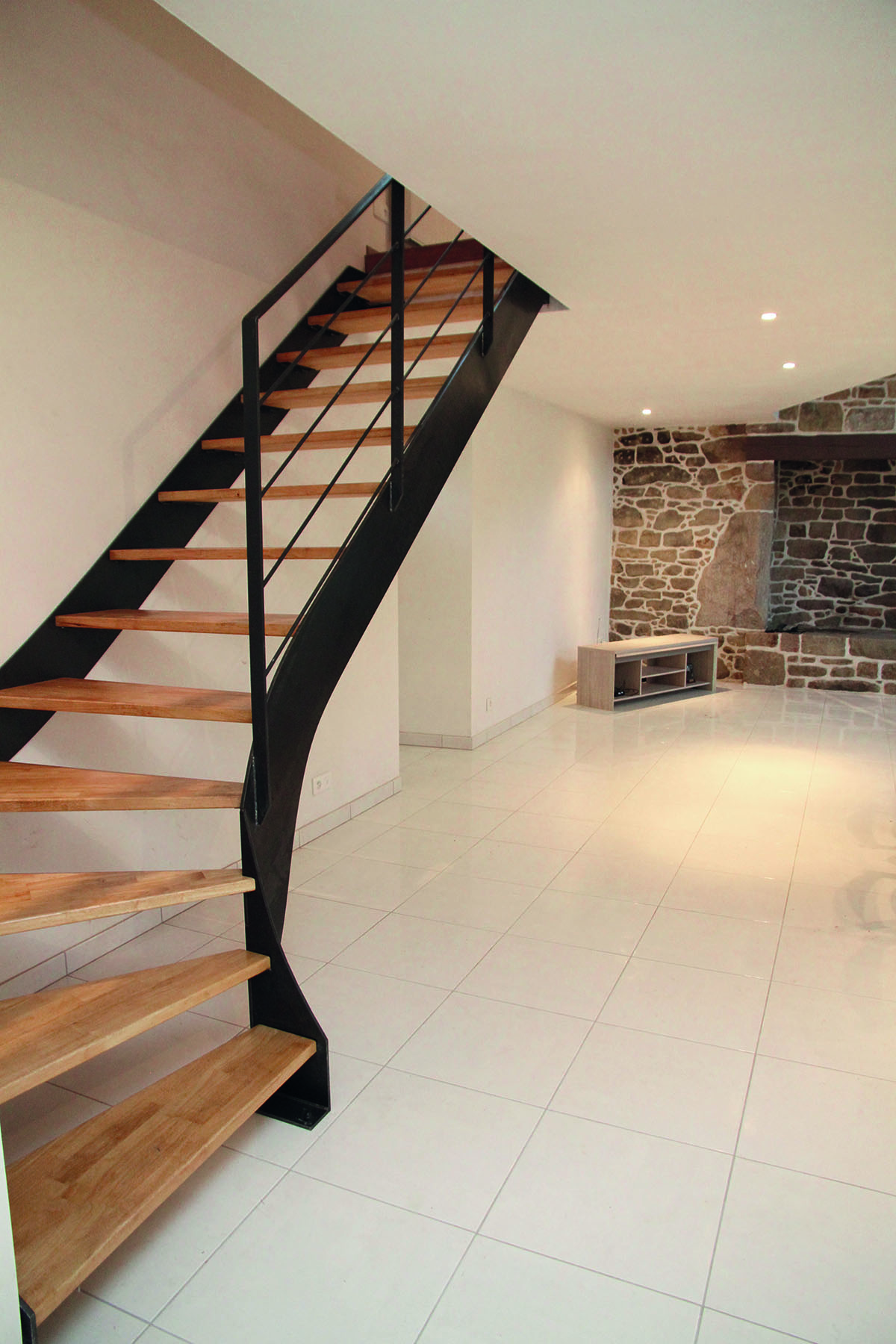 Escalier maison quart tournant