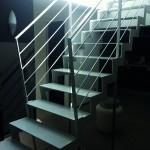 Escalier mixte inox et acier