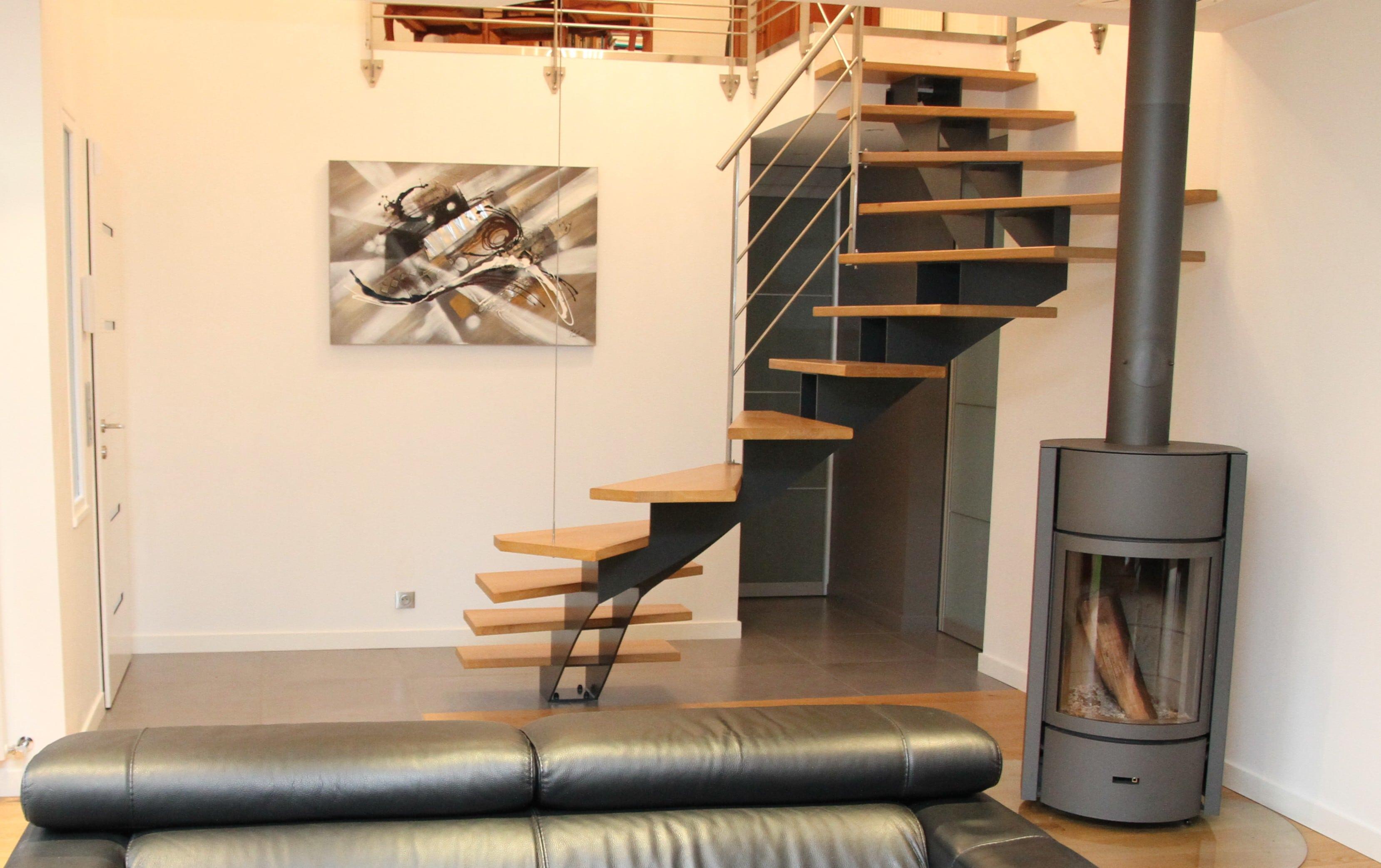 Lexique de l escalier notre point vocabulaire steelm tal for Escaliers modernes