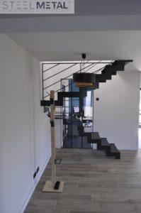 Escalier double quart tournant thep