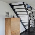 Escalier métal et bois design
