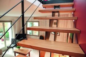 Escalier double crémaillères stahl