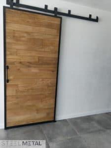 Porte bois coulissante