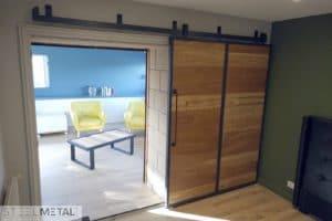 Porte coulissante en bois