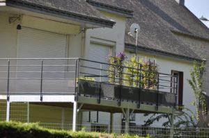 terrasse galvanisée