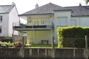 terrasse moderne en acier