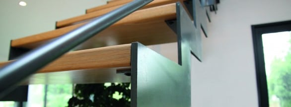 Escalier bois et metal
