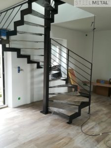 escalier hélicoïdal mixte