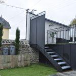 Escalier métal extérieur galvanisé