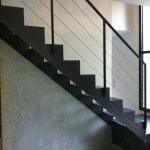 Escalier droit avec cable inox
