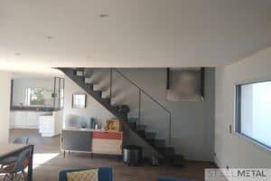 Escalier droit celik tout métal - Vannes