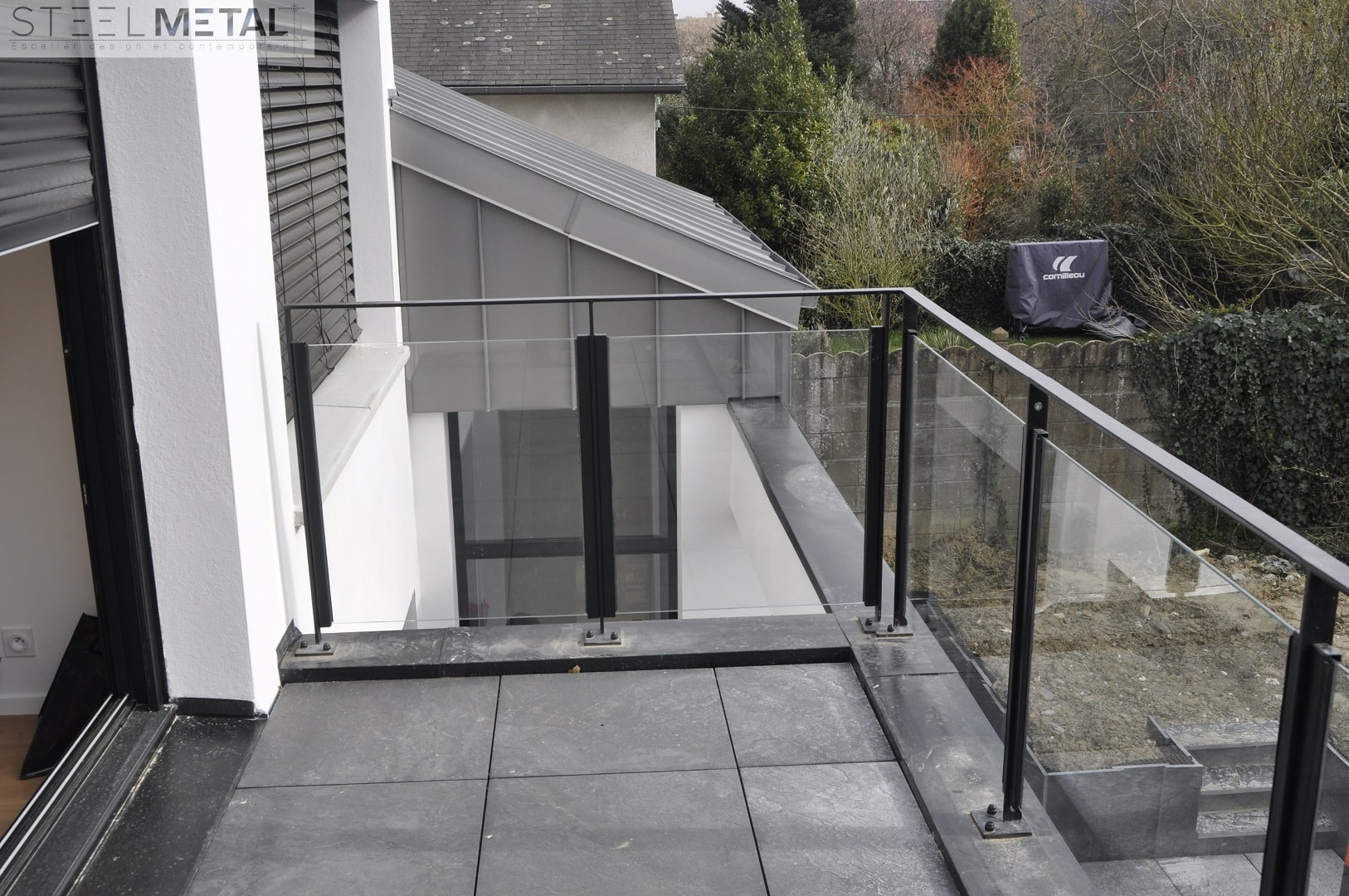 Photo De Galerie Exterieur garde-corps extérieur en métal ou inox