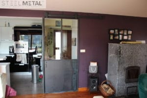 Porte coulissante métal - Vannes