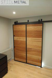 Porte coulissante en bois sur mesure