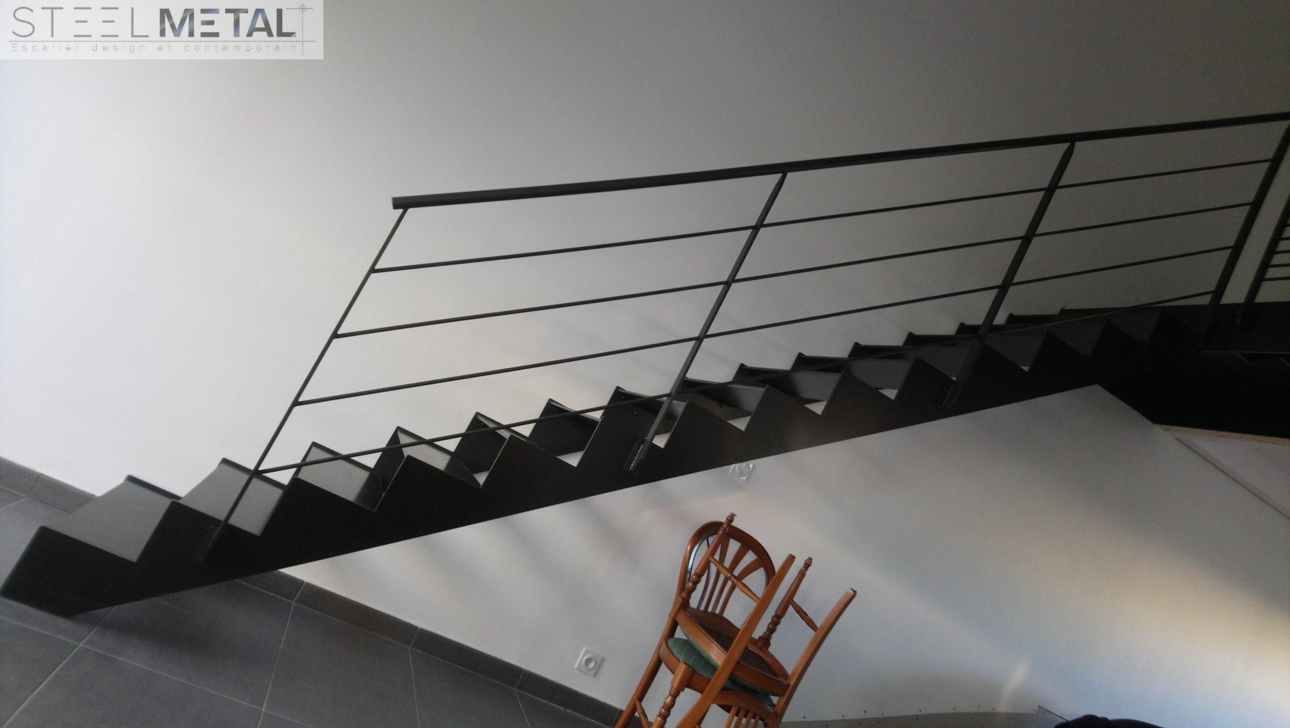 Escalier Droit Metal Et Bois Fabrication Et Distribution D Escalier