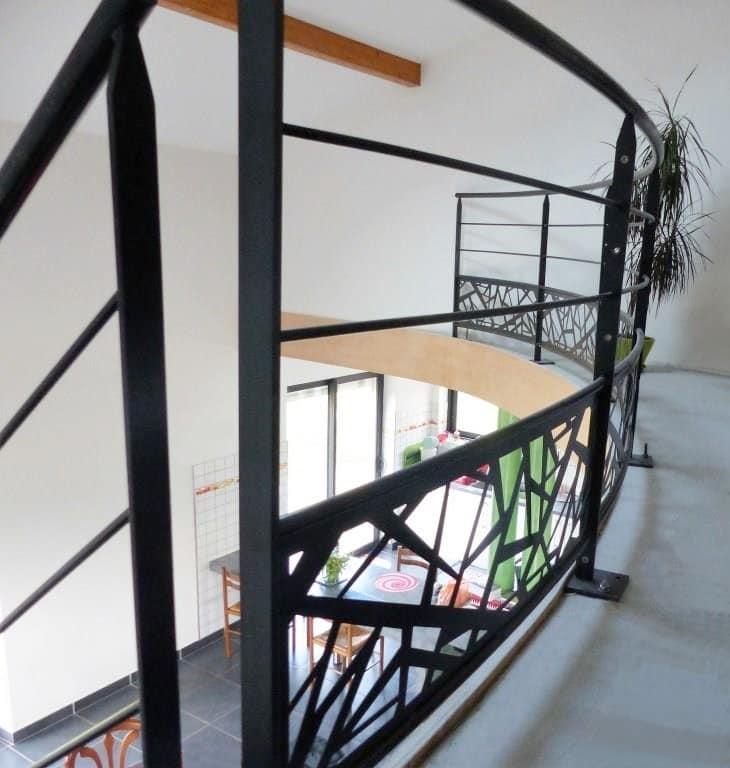 garde corp int rieur design fabriqu dans le morbihan. Black Bedroom Furniture Sets. Home Design Ideas