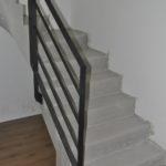 Garde corps pour escalier en béton