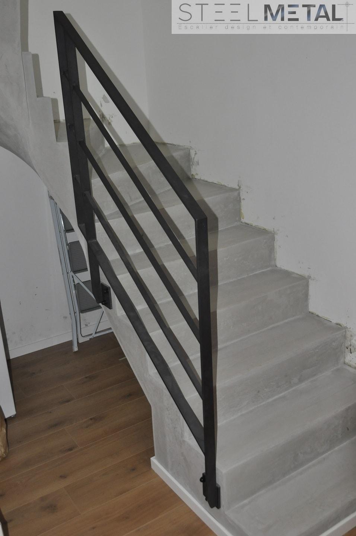 Garde Corps Interieur En Acier Ou Inox Pour Escalier