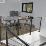 garde-corps intérieur moderne en métal