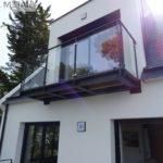 garde-corps verre et métal pour balcon