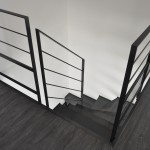 Rampe intérieure en acier et verre