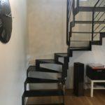 escalier métal deux quart tournant design