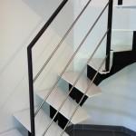 Escalier thermolaqué quart tournant